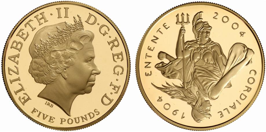 GB 5 Pounds 2004