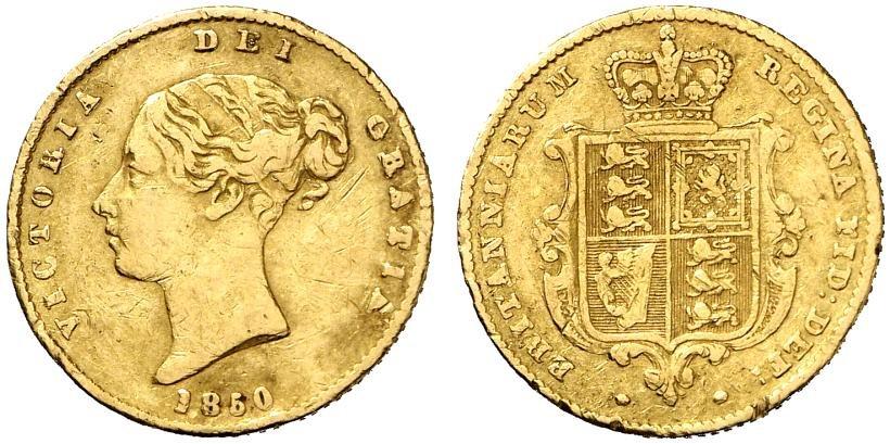 GB 1/2 Sovereign - Half Sovereign 1850