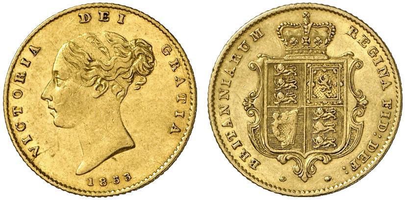 GB 1/2 Sovereign - Half Sovereign 1853