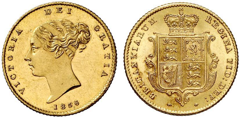 GB 1/2 Sovereign - Half Sovereign 1856