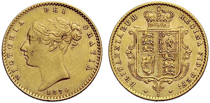 GB 1/2 Sovereign - Half Sovereign 1870