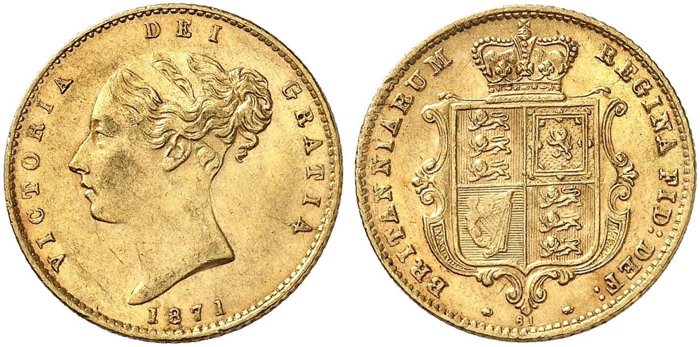 GB 1/2 Sovereign - Half Sovereign 1871