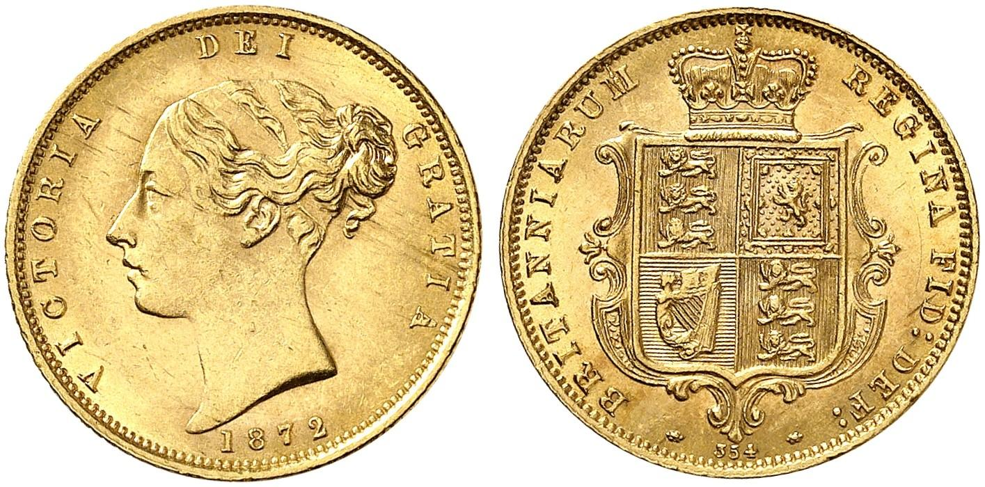 GB 1/2 Sovereign - Half Sovereign 1872