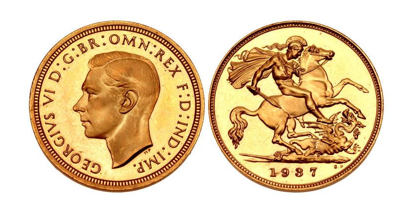 GB 1/2 Sovereign - Half Sovereign 1937