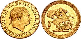 GB Sovereign 1818
