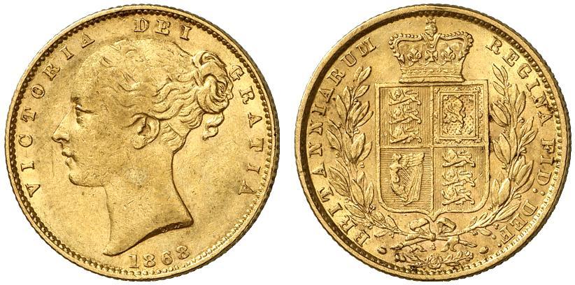 GB Sovereign 1868