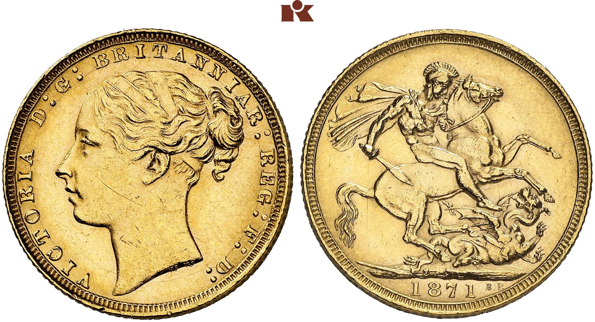 GB Sovereign 1871