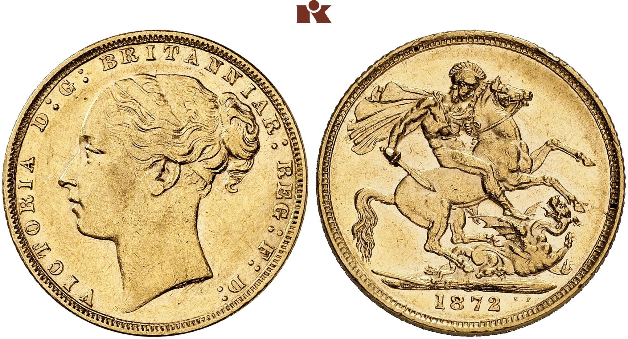 GB Sovereign 1872