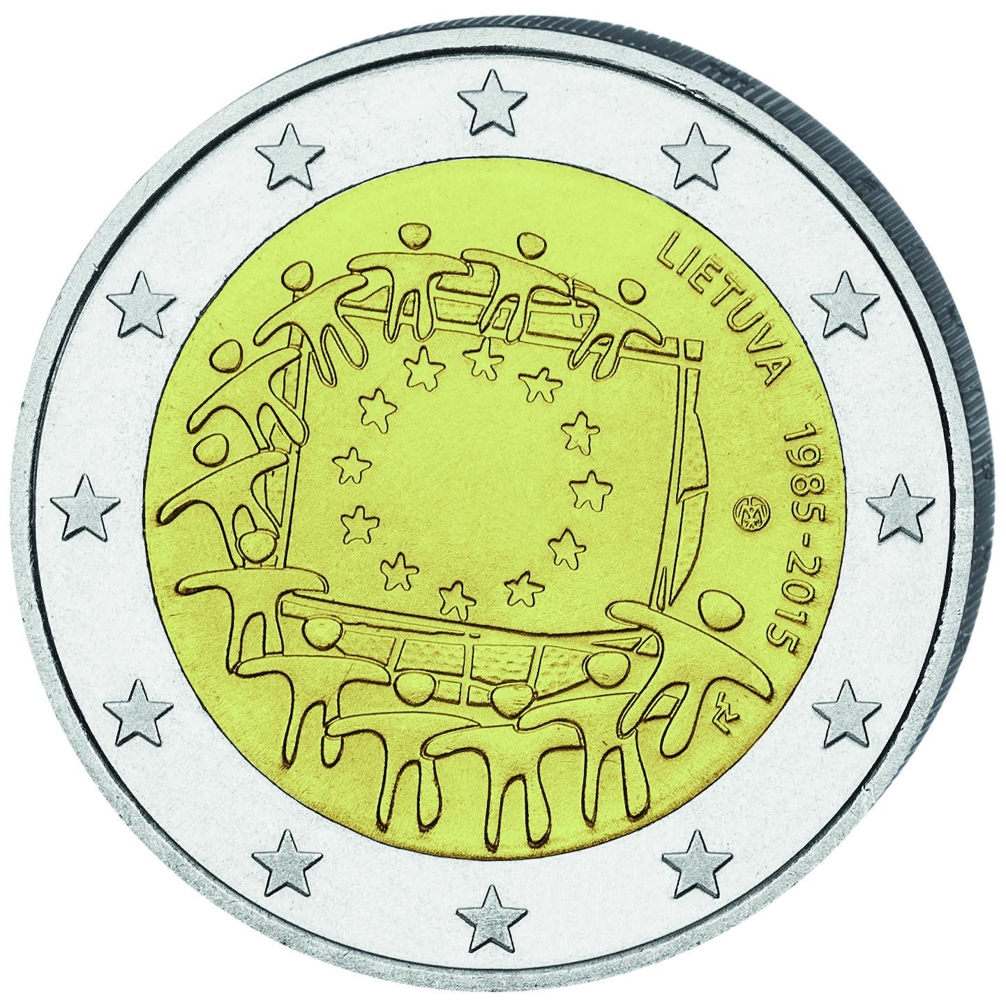 LT 2 Euro 2015 Lithuanian Mint Logo