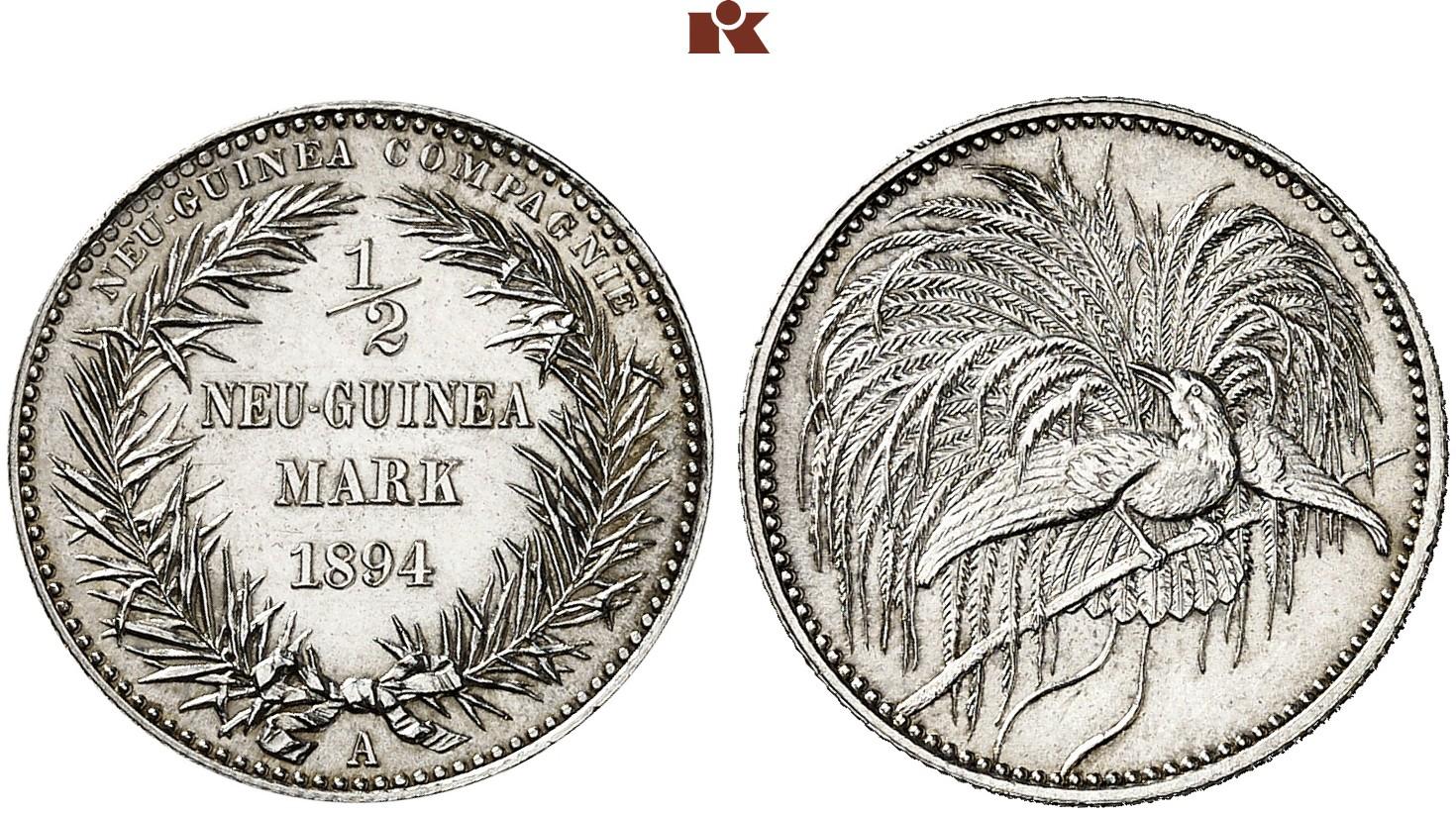 DE 1/2 Mark 1894 A