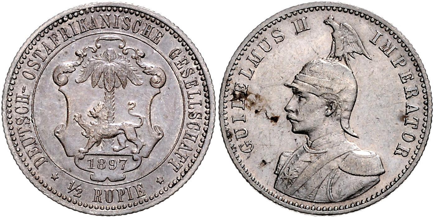 DE 1/2 Rupie 1897 A