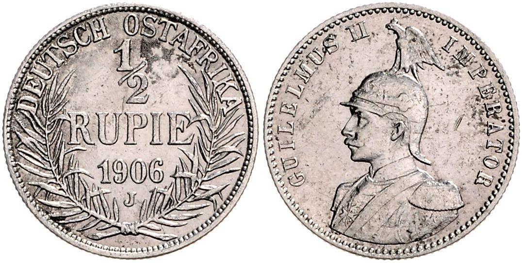 DE 1/2 Rupie 1906 J