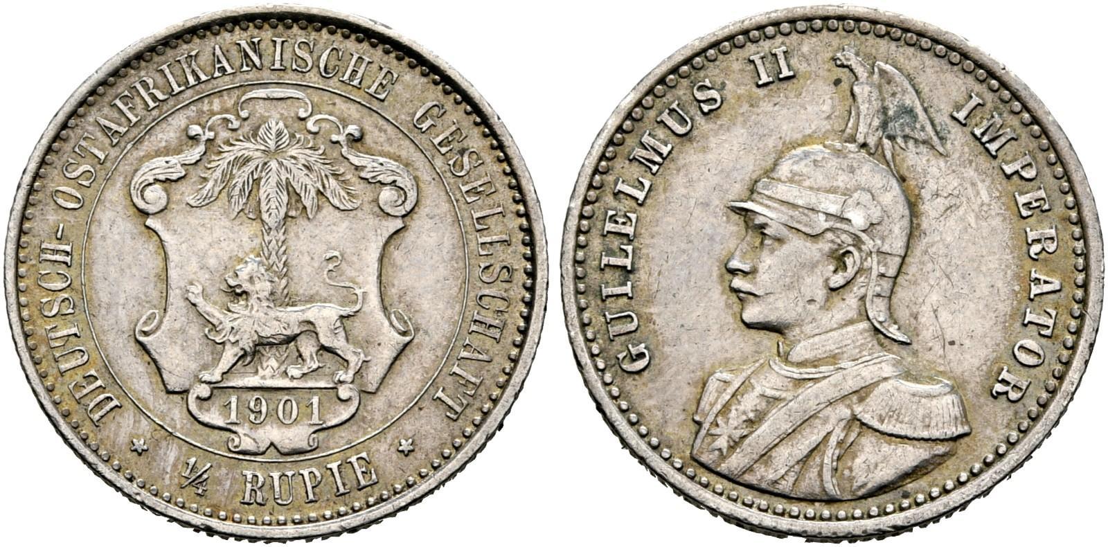 DE 1/4 Rupie 1901 A