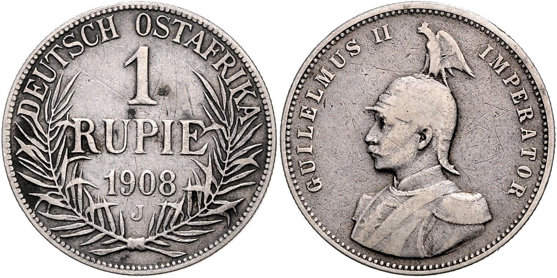 DE 1 Rupie 1908 J