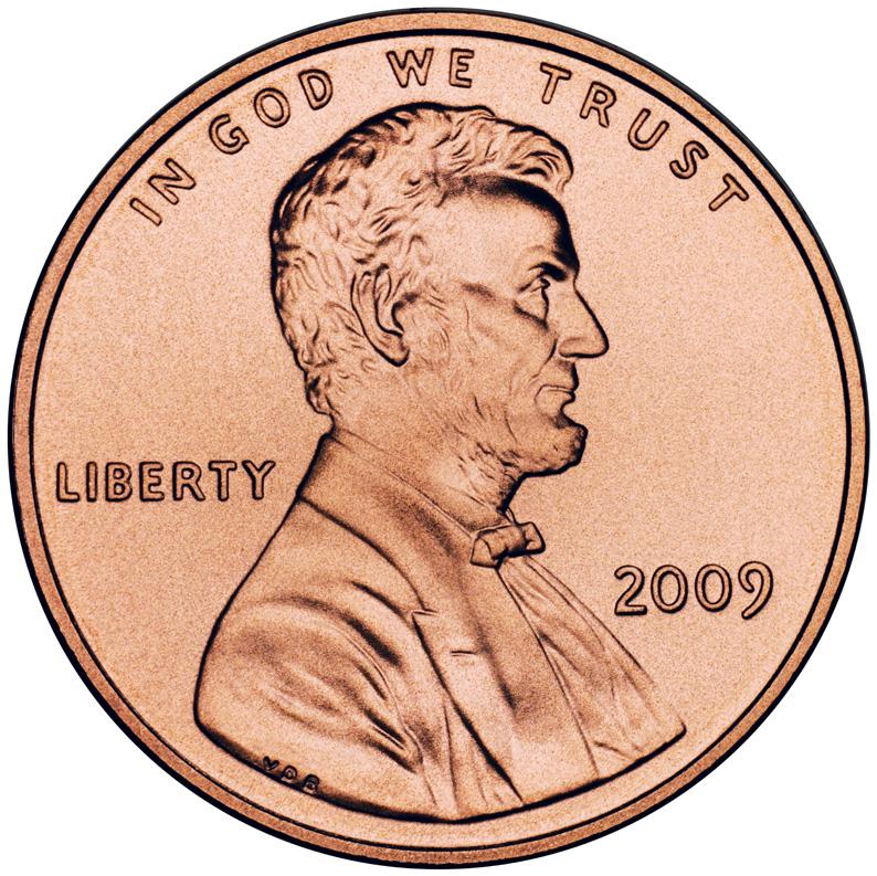 US 1 Cent - Penny 2009 no mintmark