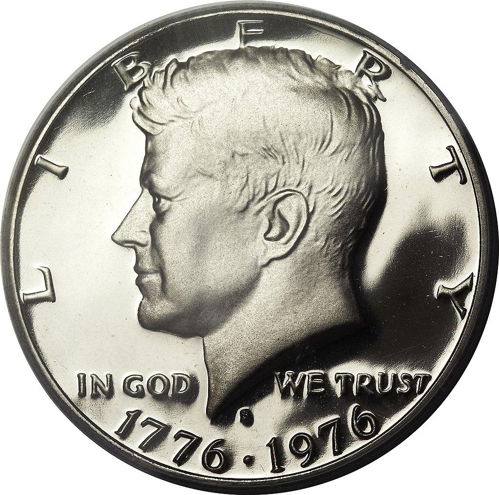US 1/2 Dollar - Half Dollar 1976 no mintmark