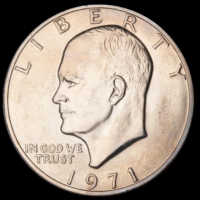 US 1 Dollar 1977 no mintmark