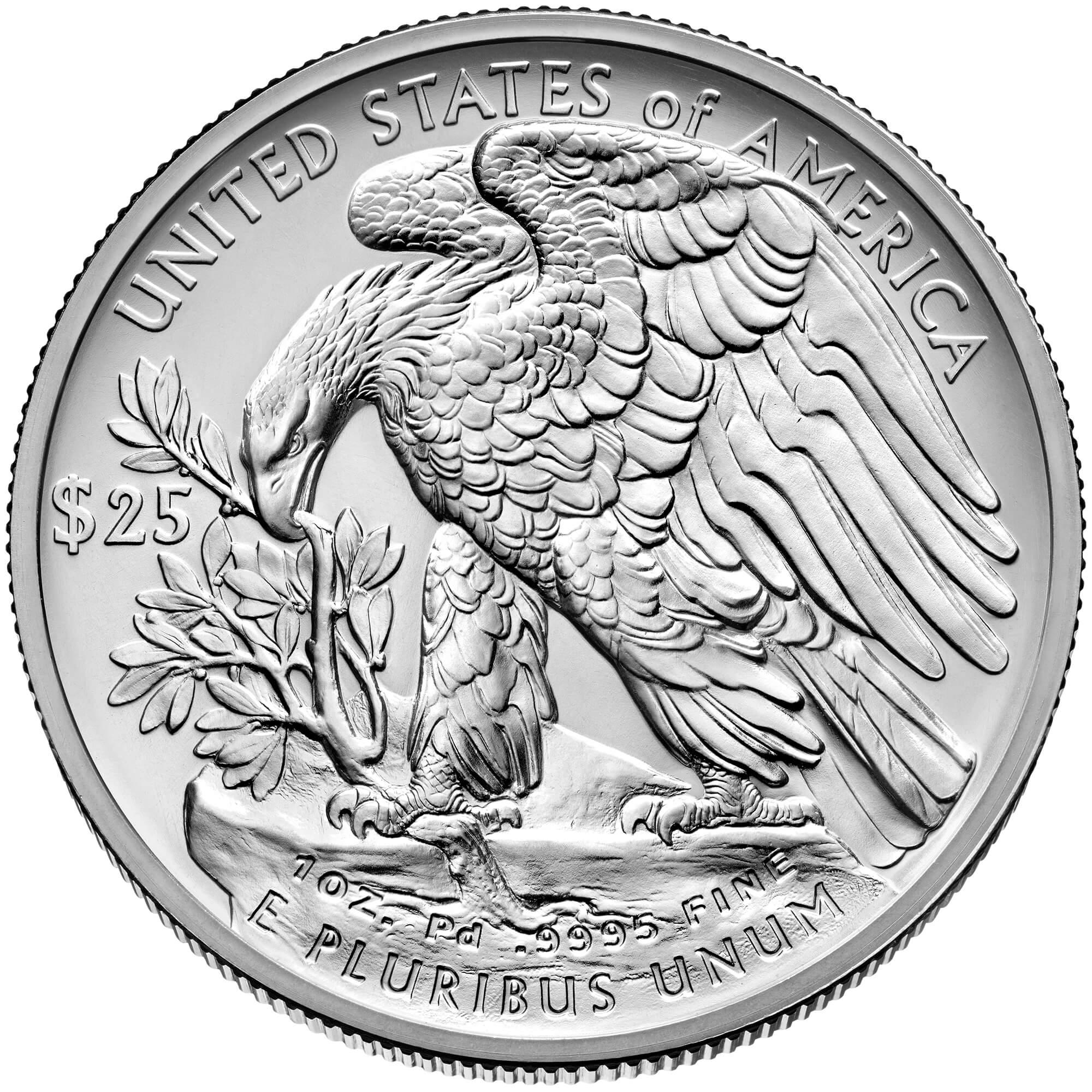 US 25 Dollars 2021 W