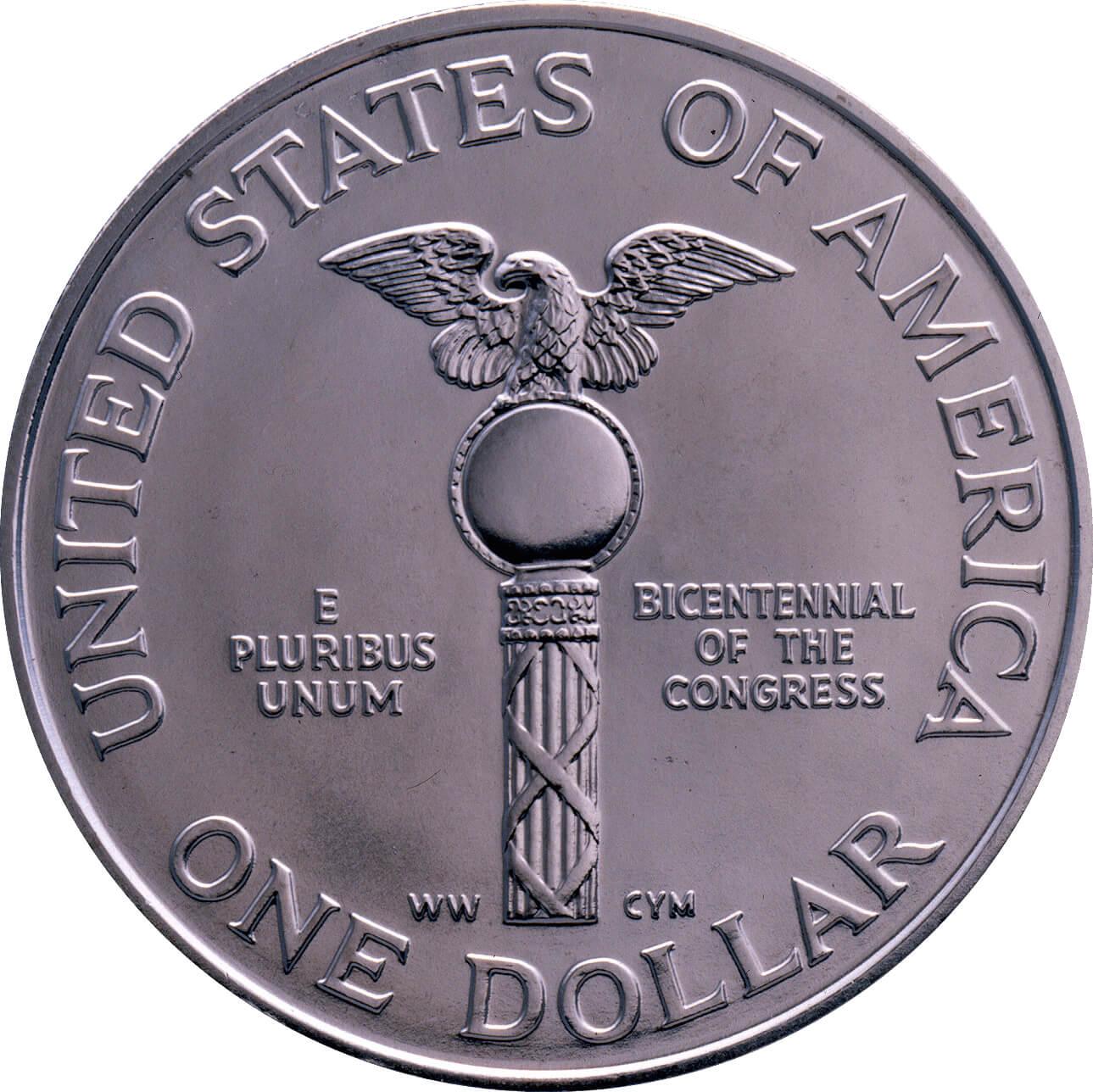 US 1 Dollar 1989 D