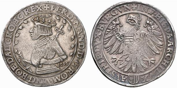HRR 1 Taler 1536 Arms of upper Austria