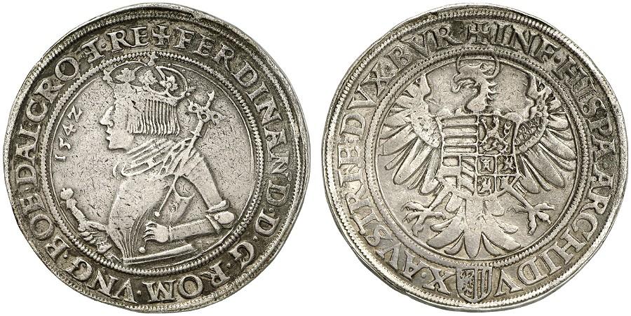 HRR 1 Taler 1542 Arms of upper Austria