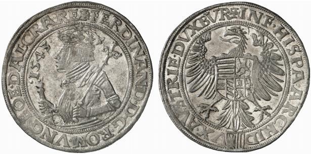 HRR 1 Taler 1544 Arms of upper Austria