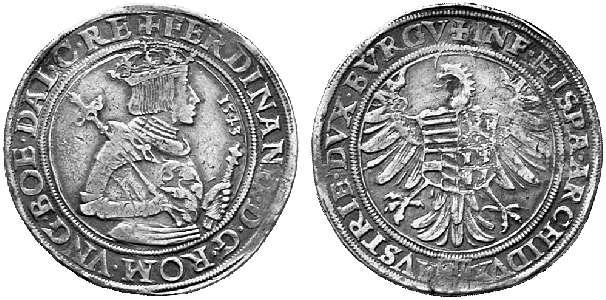 HRR 1 Taler 1543 Arms of upper Austria