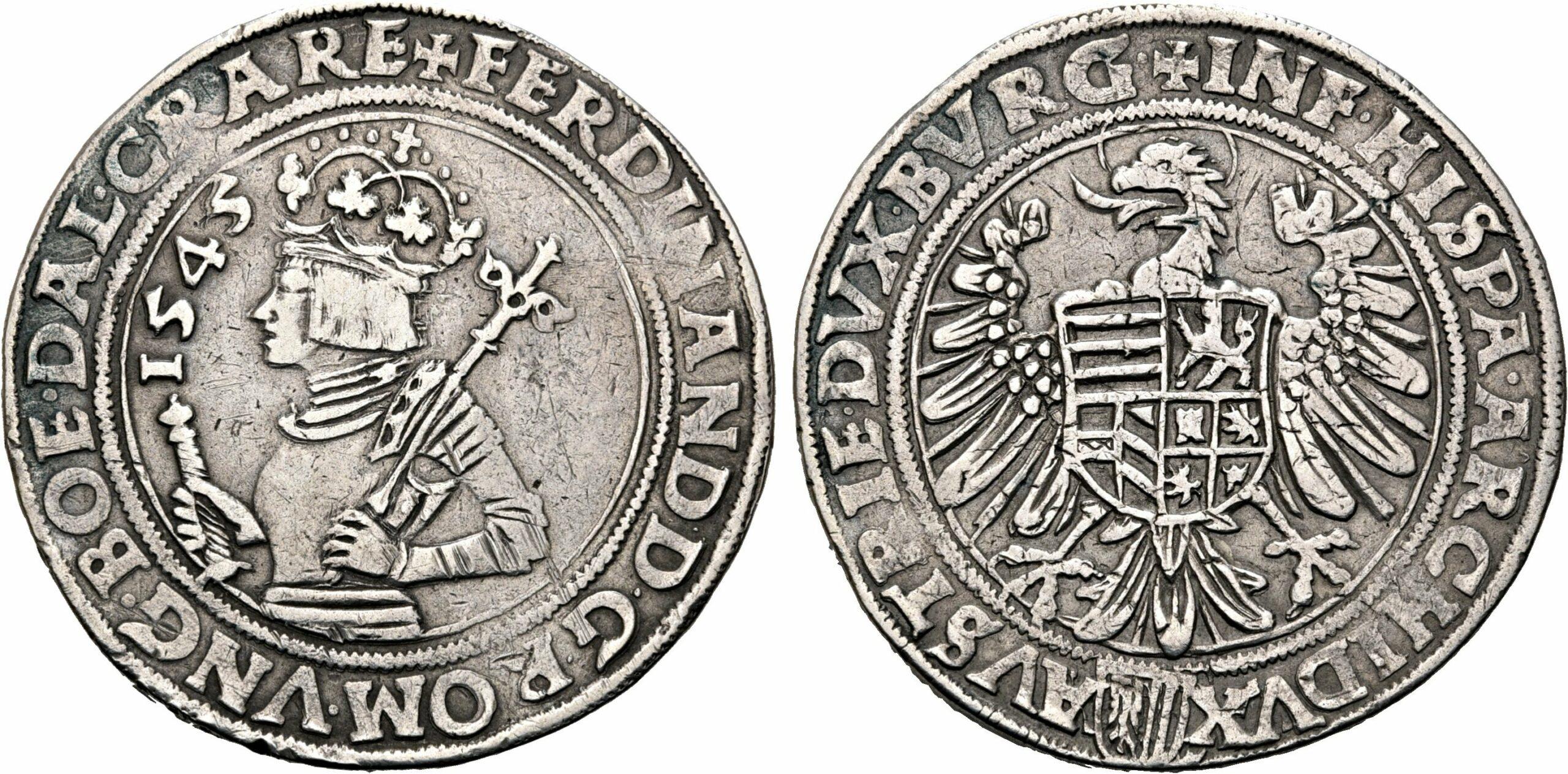 HRR 1 Taler 1545 Arms of upper Austria