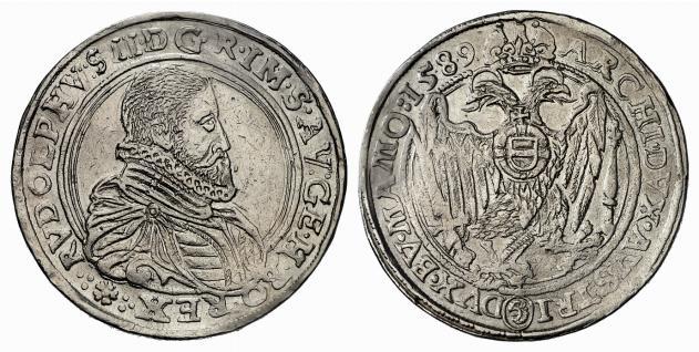 HRR 1 Taler 1589 Lion´s head