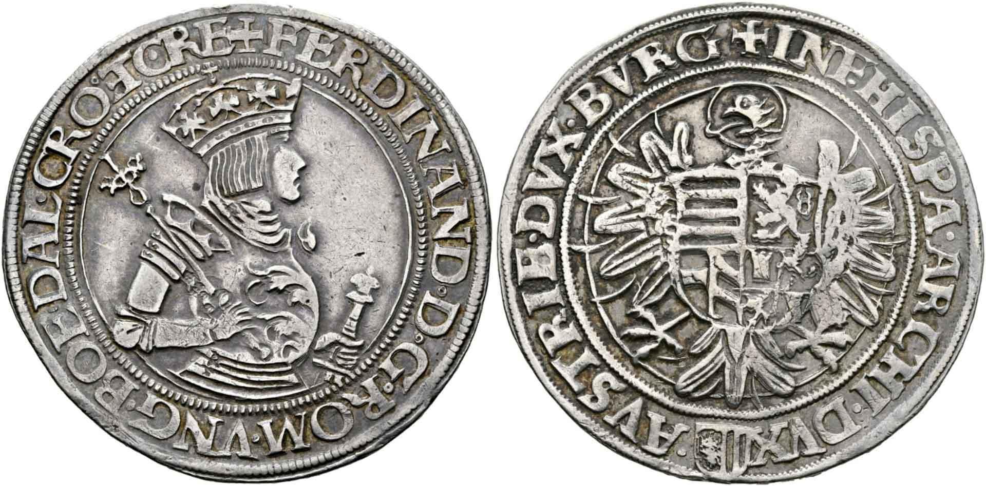 HRR 1 Taler 1521 Arms of upper Austria