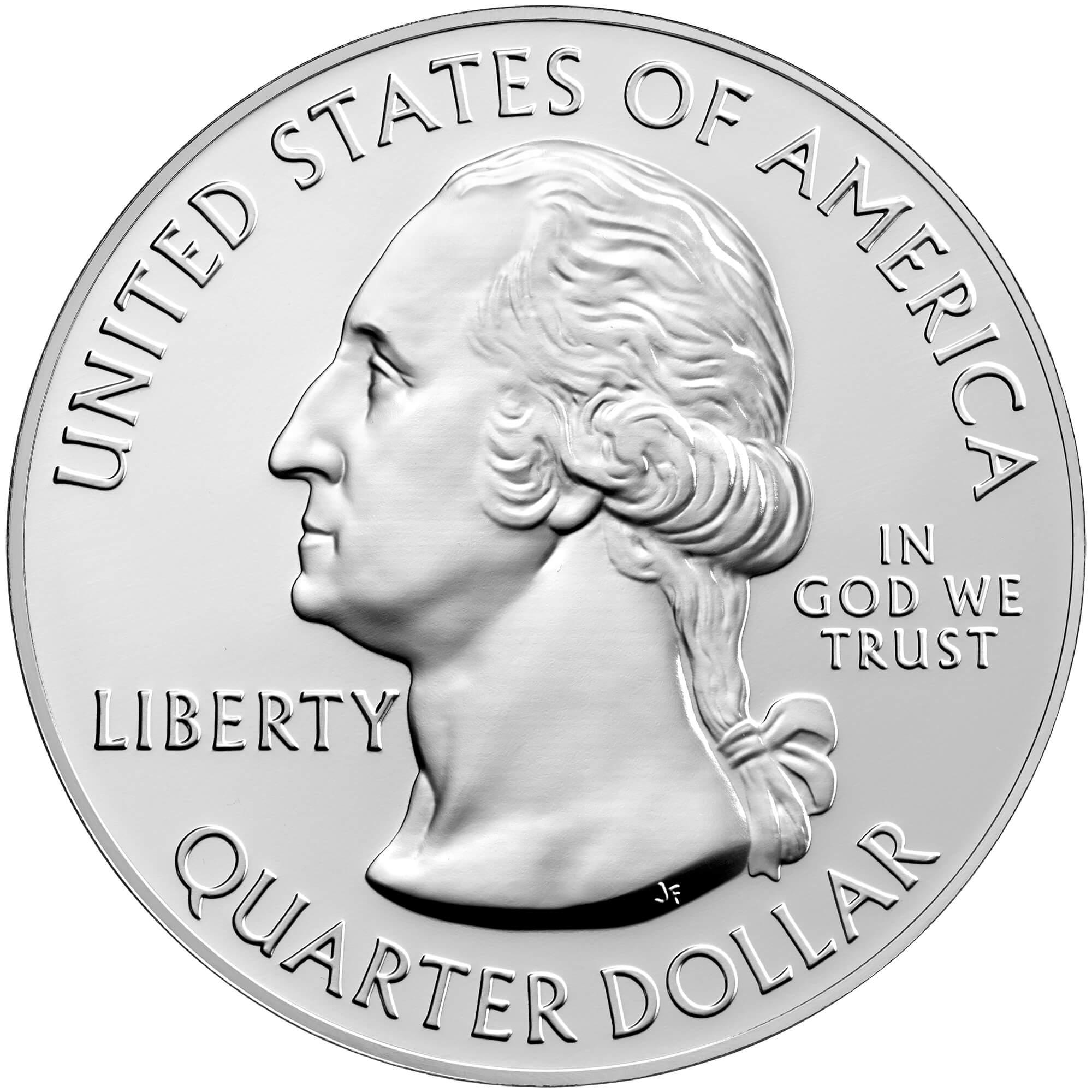 US 1/4 Dollar - Quarter 2017 no mintmark