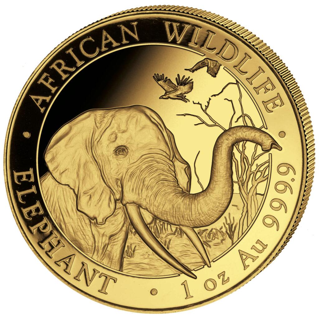 Eine Anlagemünze aus Deutschland: Der Somalia-Elefant