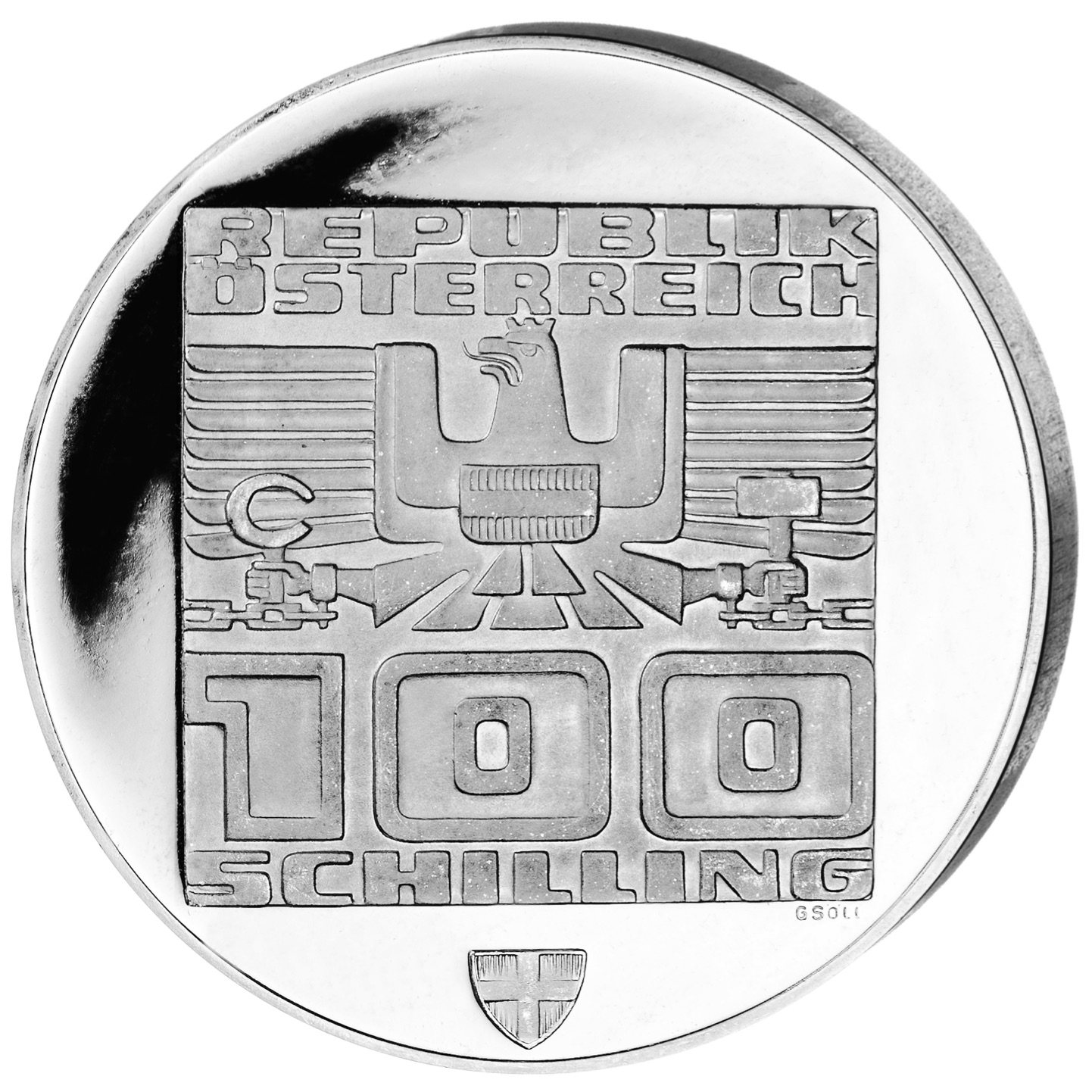 AT 100 Schilling 1976 city coat of arms