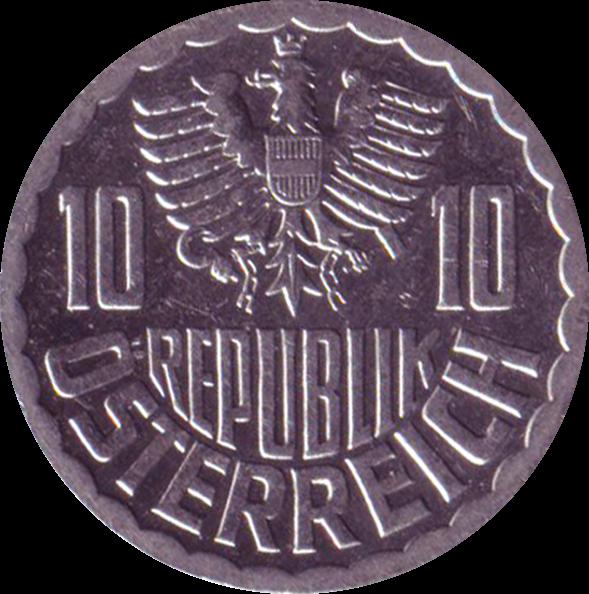 AT 10 Groschen 1957
