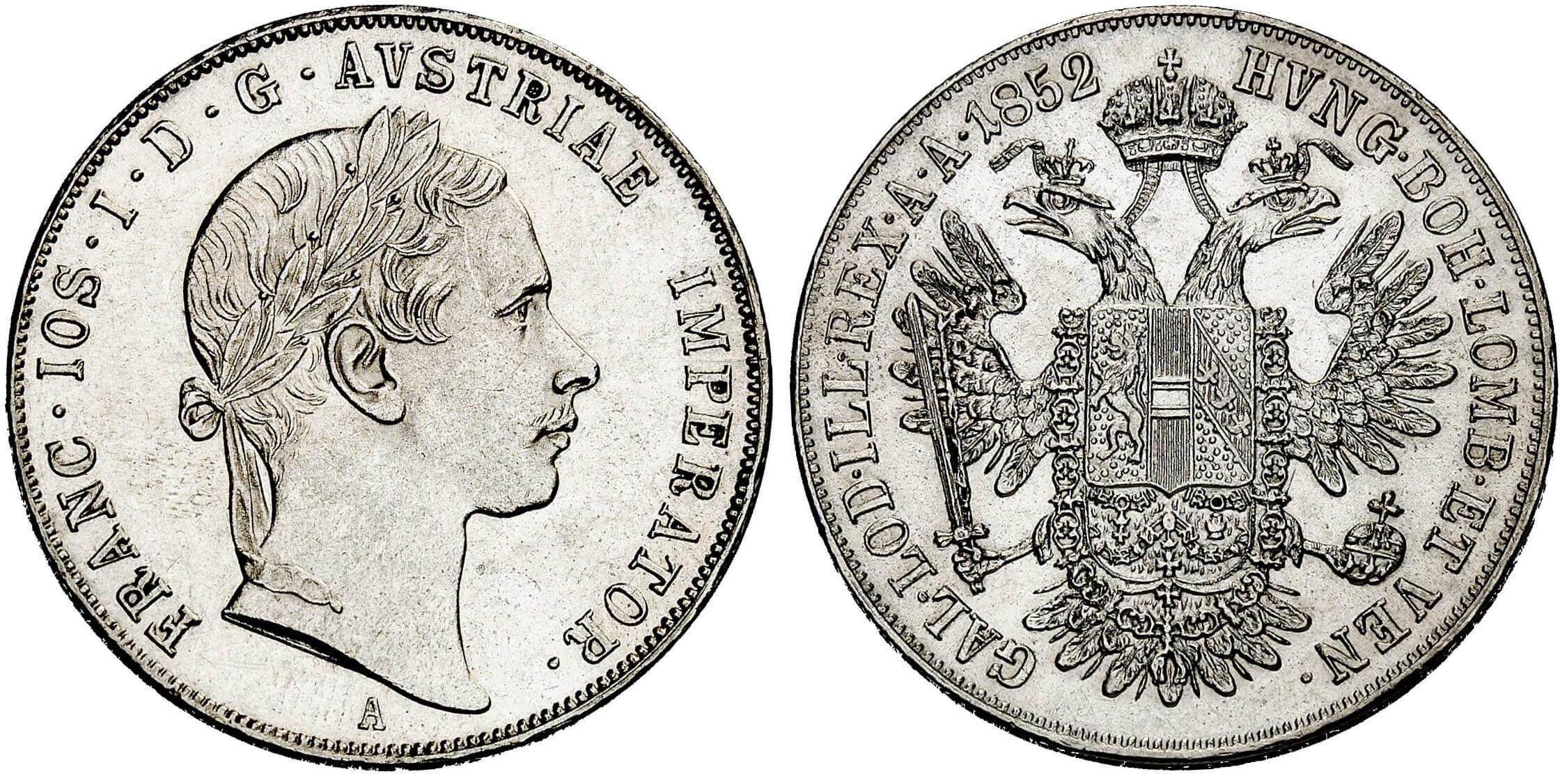 AT 1/2 Taler - Halbtaler 1853 A