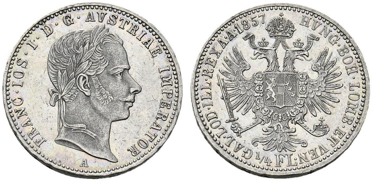 AT 1/4 Gulden - Viertelgulden 1857 M