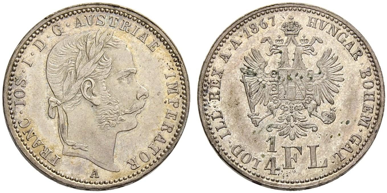 AT 1/4 Gulden - Viertelgulden 1870 A