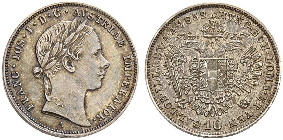 AT 10 Kreuzer 1853 A