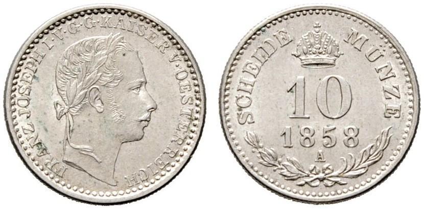 AT 10 Kreuzer 1858 V
