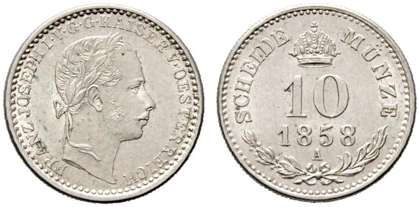 AT 10 Kreuzer 1858 A