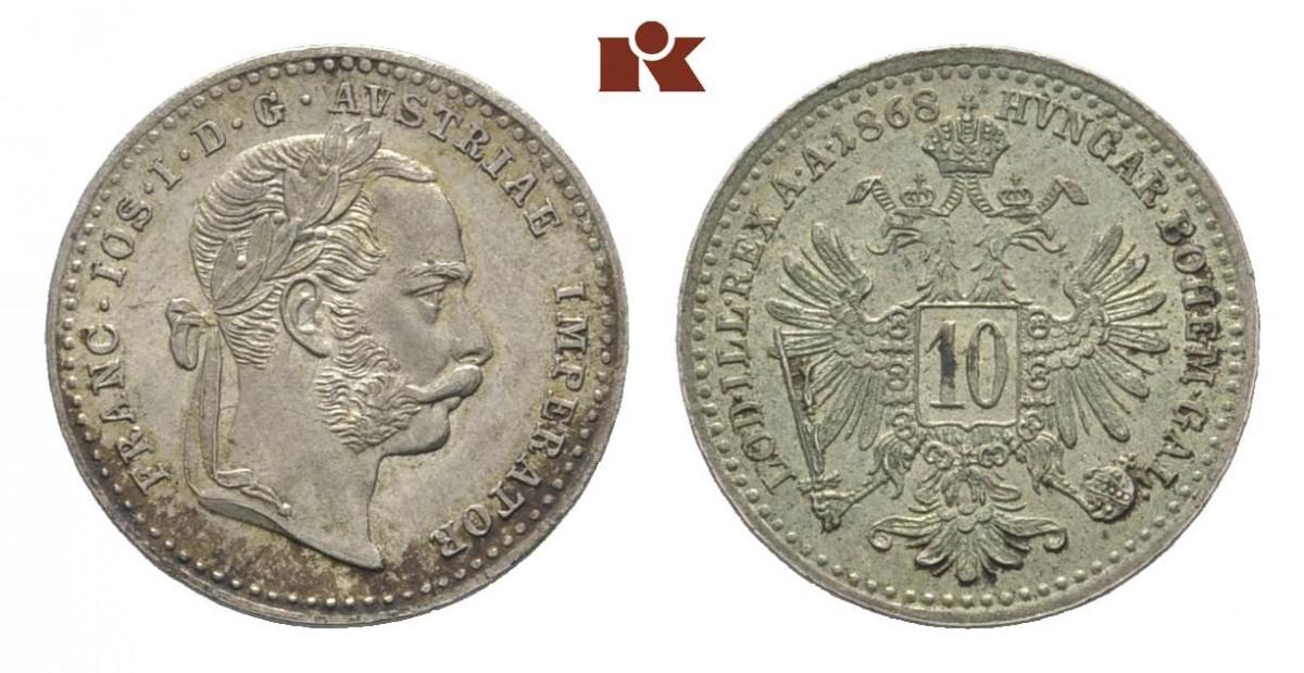 AT 10 Kreuzer 1870