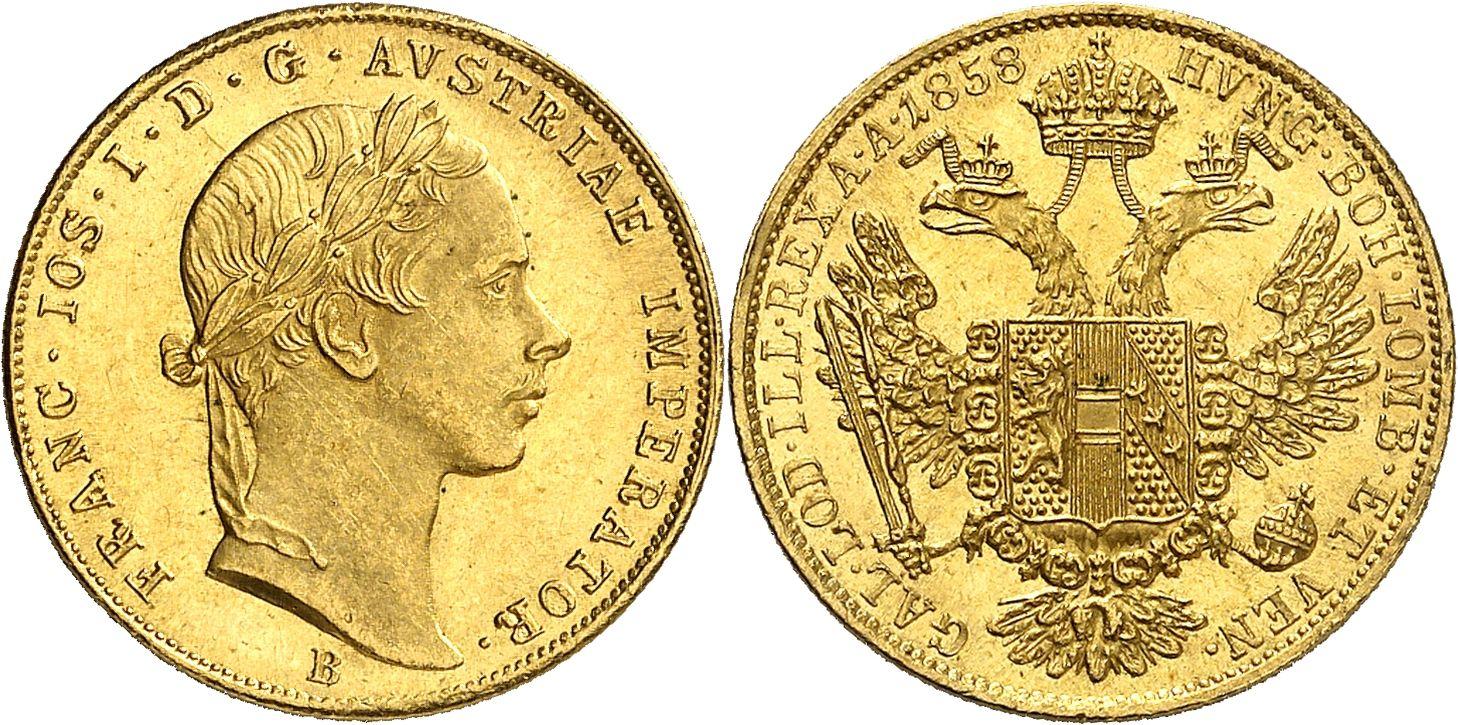 AT 1 Dukat 1858 M