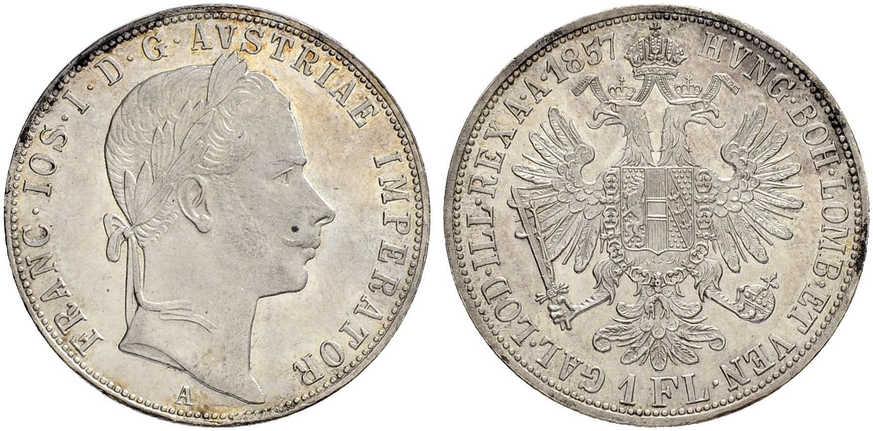 AT 1 Gulden 1857 V
