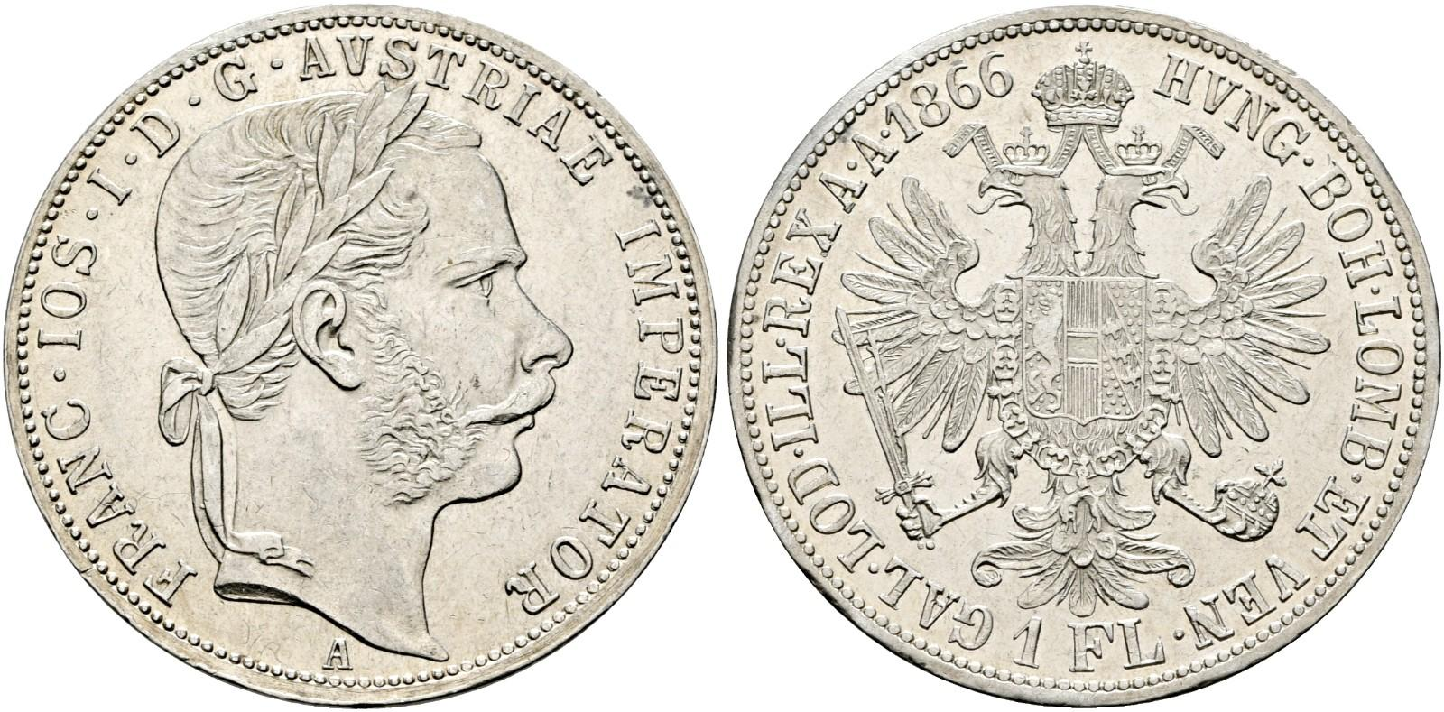 AT 1 Gulden 1866 V