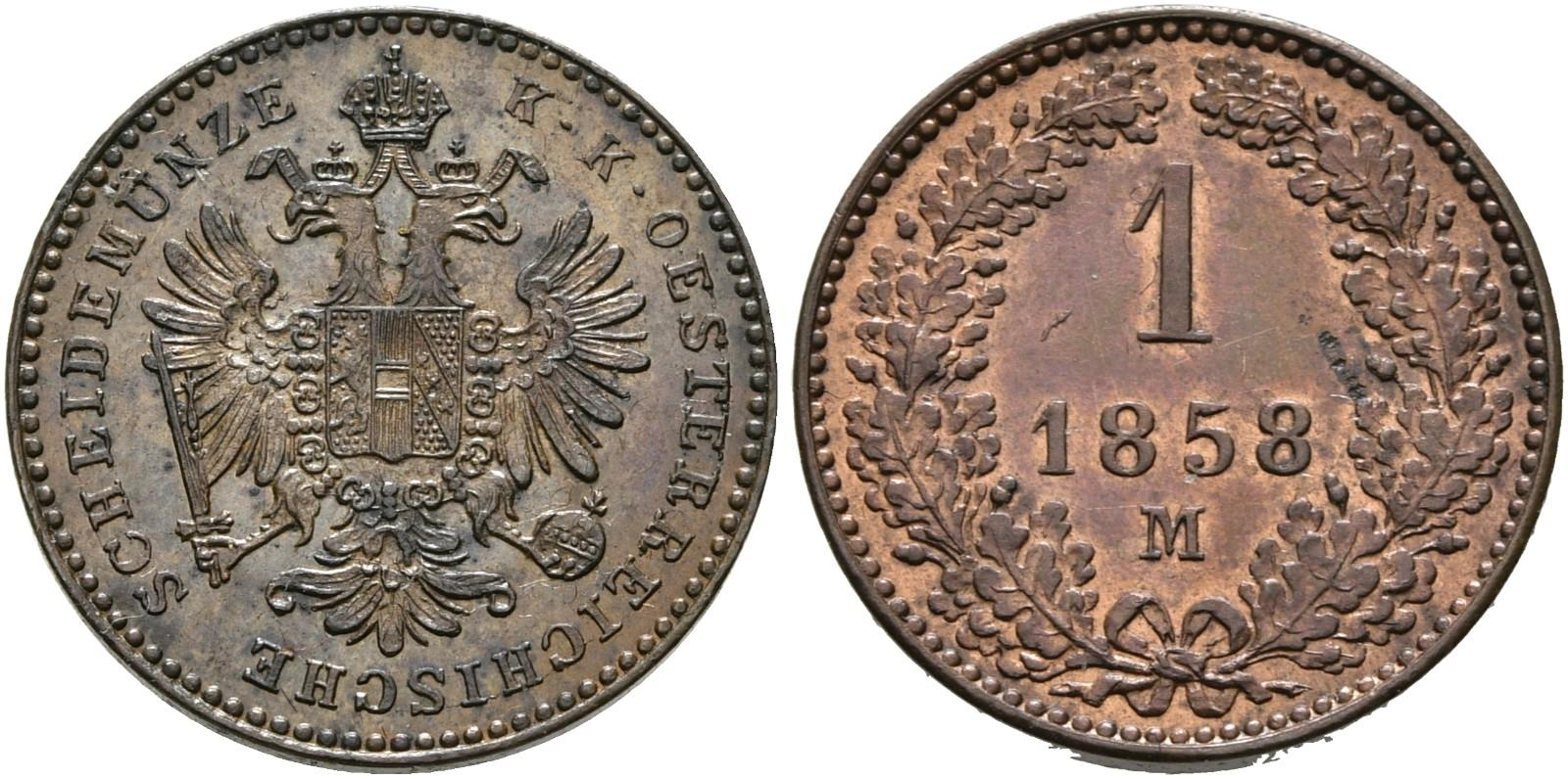 AT 1 Kreuzer 1858 M