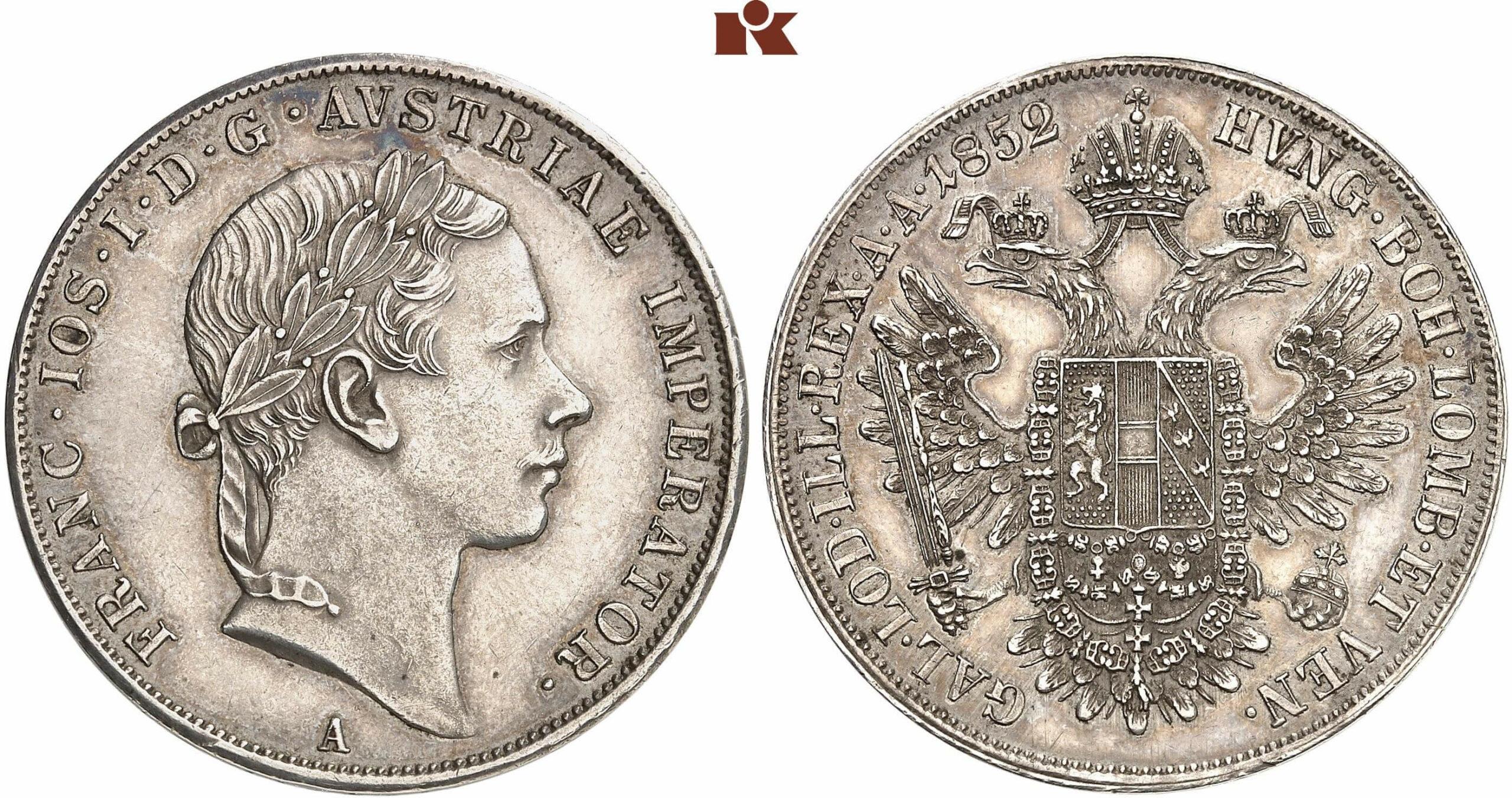 AT 1 Taler 1853 B