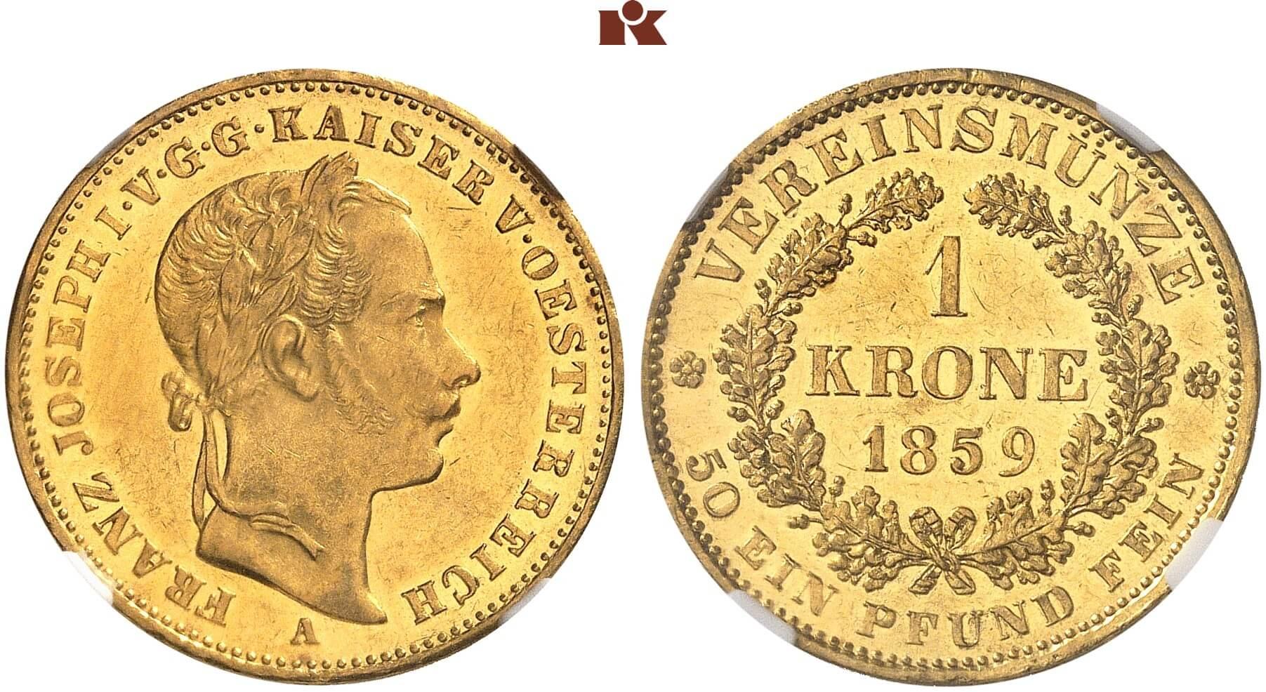 AT 1 Vereinskrone 1859 M