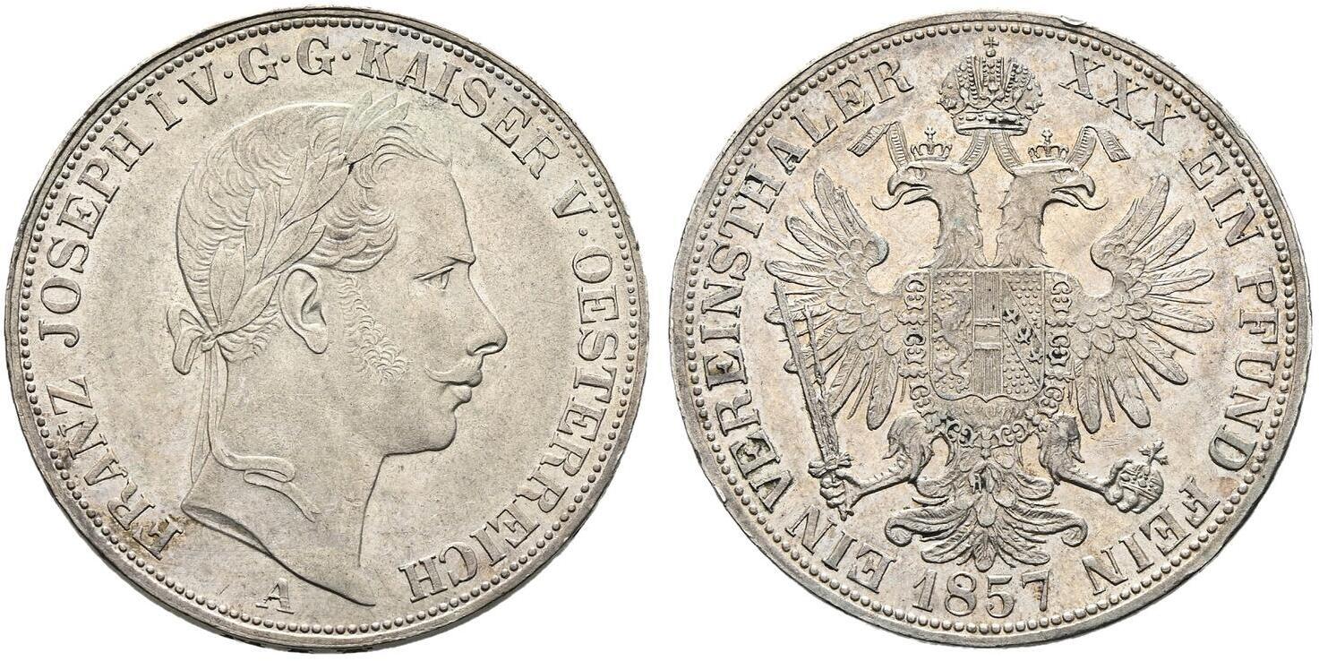 AT 1 Vereinstaler 1858 M