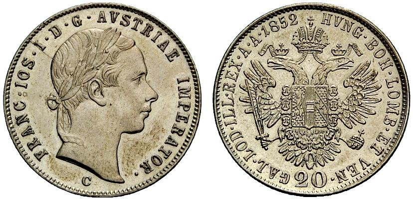AT 20 Kreuzer 1856 E