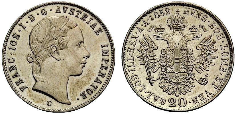 AT 20 Kreuzer 1856 A